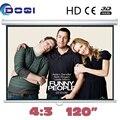 120 дюймов 4:3 руководство самоконтрящаяся матовый белый экран проекции pantalla proyeccion для HD проектор снести экран фильм