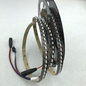 Image 5 - 3 m/roll 144 leds/m dc5v SK6812 4020 측면 방출 주소 지정 가능 led 유연 스트립, 비 방수, ip33, 검정색 pcb