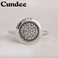 Famous Brand Rings For Women 925 Sterling Silver Sparkling Brand Ring With AAA Cubic Zirconia European