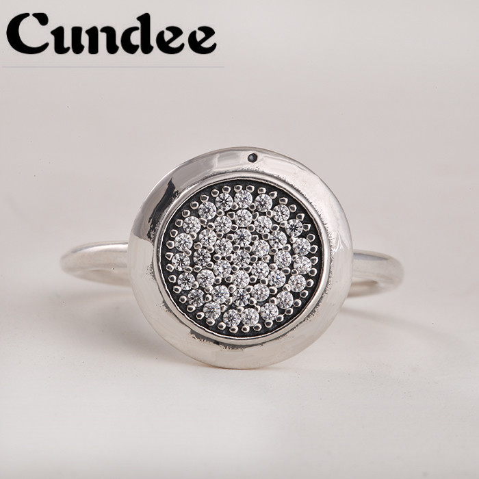 Famous Brand Rings For Women 925 Sterling Silver Sparkling Brand Ring with AAA Cubic Zirconia European Fine Jewelry
