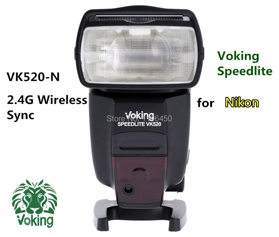 Voking 2.4G Wireless sync Flash Speedlite VK520-N for D60 D90 D3000 D3100 D3200 D5000 D5100 D5200 D7000 D7100 Camera DSLR монитор g sync