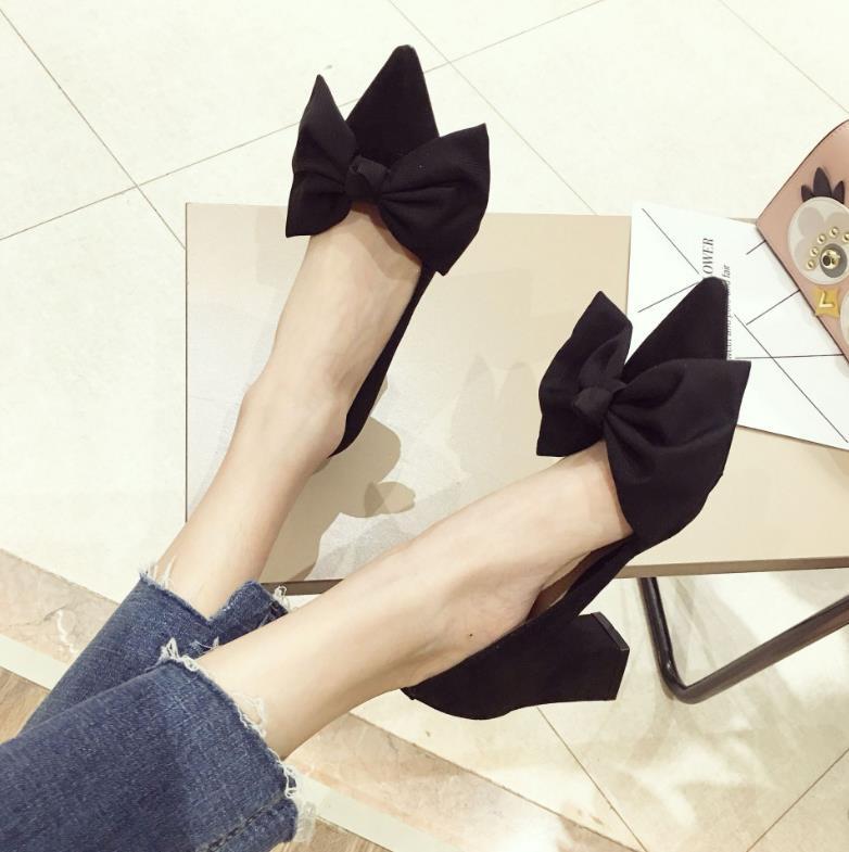 rose Noir Arc Bouche Super Femmes Peu Nouvelle Talons Hauts A Profonde De Coréenne Tempérament Version Chaussures 2018 qxAHZBwa0