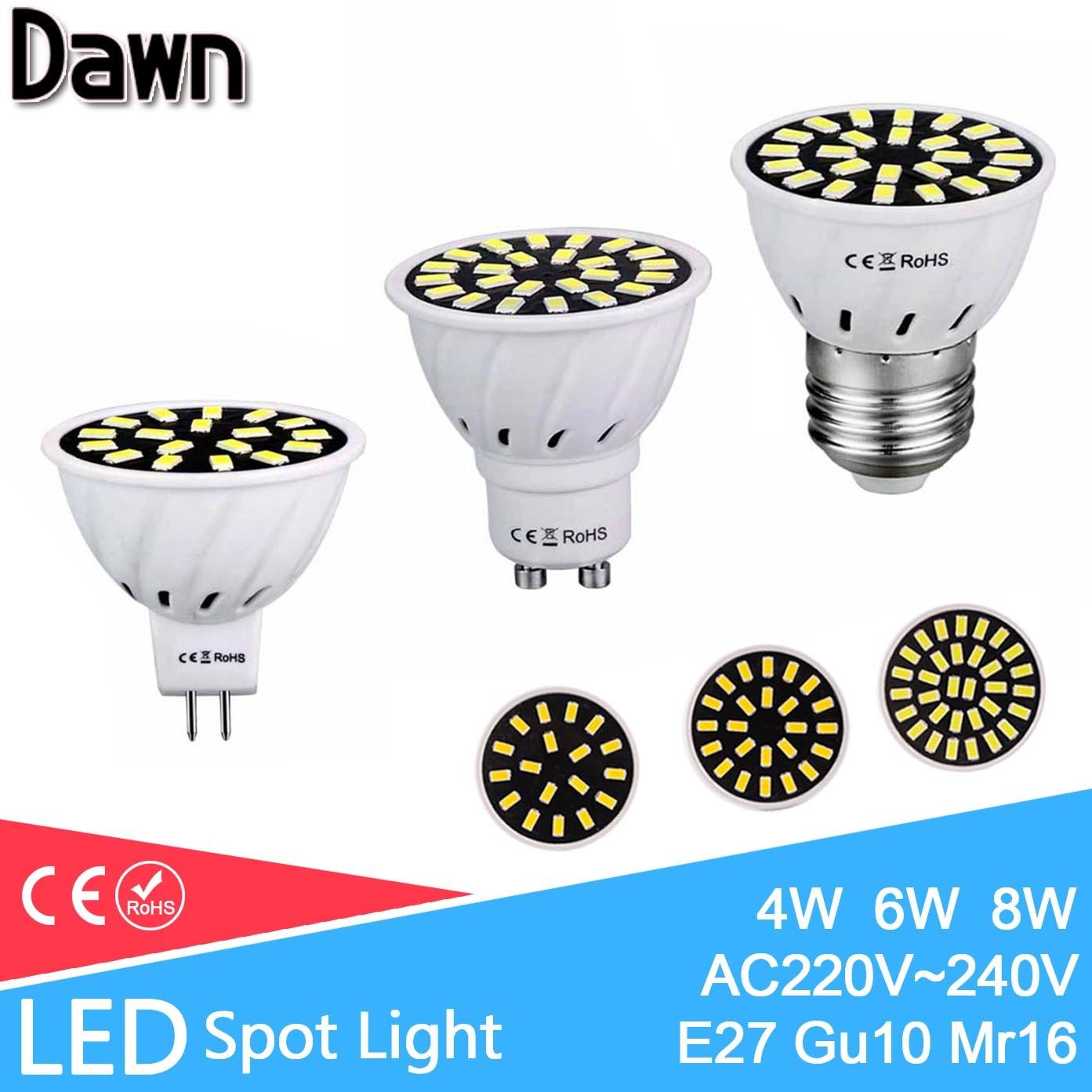 Top-Quality-LED-Spot-Light-4W-6W-8W-Gu10-font-b-Mr16-b-font-font-b Verwunderlich Gu 5.3 Led 230v Dekorationen