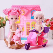 15cm Colorful Hair Girls Dress Up Dolls 13 Joint BJD Doll Toy with 3D Eye LOL Doll Playmate Kids Birthday Gift Baby Toy for Girl(China)