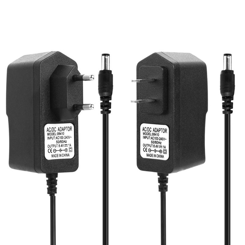 18650 DC 8.4V 1A/4.2V 1A/21V 2A/16.8V 1A/8.4V 2A Lithium Battery Charger Adapters US EU Plug Power Adapter Charger