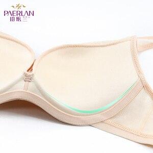 Image 5 - PAERLAN бюстгальтер пуш ап с маленькой грудью, 5/8 чашек, сетчатые обернутые сундуки, маленькие сундуки, гладкое нижнее белье для женщин, застежка сзади