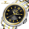 FNGEEN Luxury Wrist Watch Men Automatic Mechanical Hollow Clock Stainless Steel Strap Mens Watches Date Business