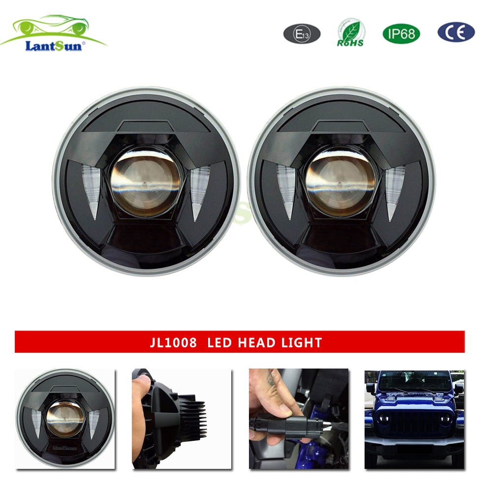 8.26inch headlight DRL for jeep wrangler jl 2018 auto product car light LED light high/low beam aluminum alloy IP68 Round led