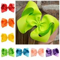 20pcs/lot 8 Inch Large Grosgrain Ribbon Bow Big hair bow Hairpin Girl Bow With Clip Kid Hair Clip Boutique Hair Accessories 678