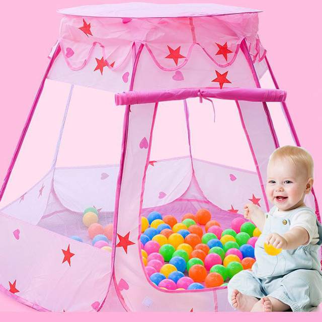 2018 New Playpen Portable Fencing for Children Baby Playpen Fence Kids Foldable Play Tent Girls Princess Castle Boys Ball Pool