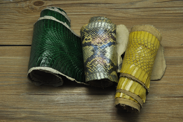genuine snake skin DIY nature leather piece craft material multi pattern 1pc for wallet handbag decoration image