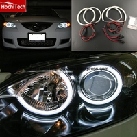 HochiTech Ultra Bright SMD White LED Angel Eyes 2000LM 12V Halo Ring Kit Daytiem Running Light