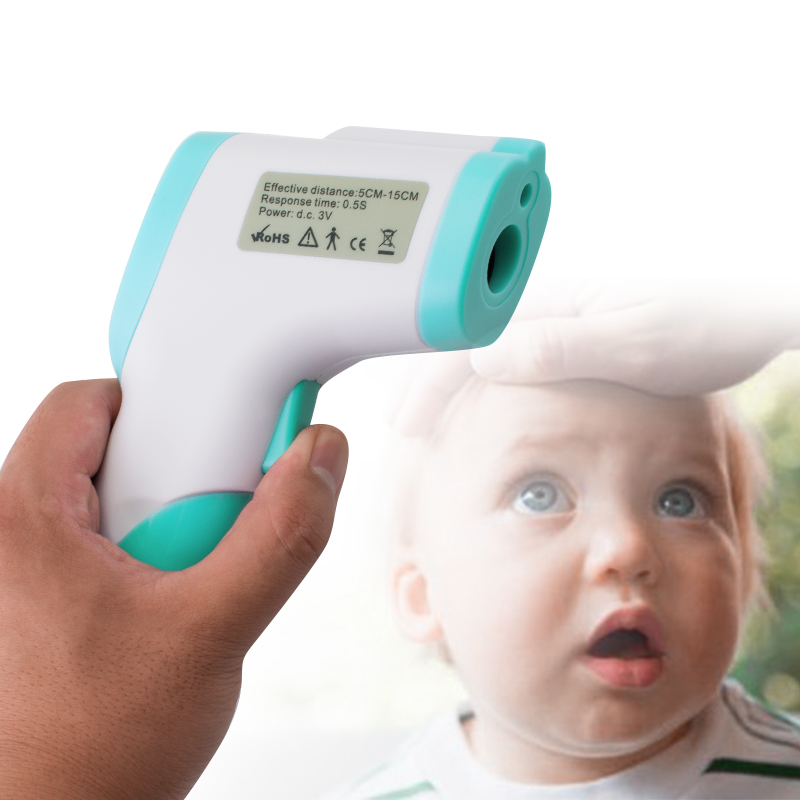 Body Skin Digital Non contact Infrared IR Thermometer Infant Heat Gun Baby Kids LCD Lights Baby Adult Medical Instant display#