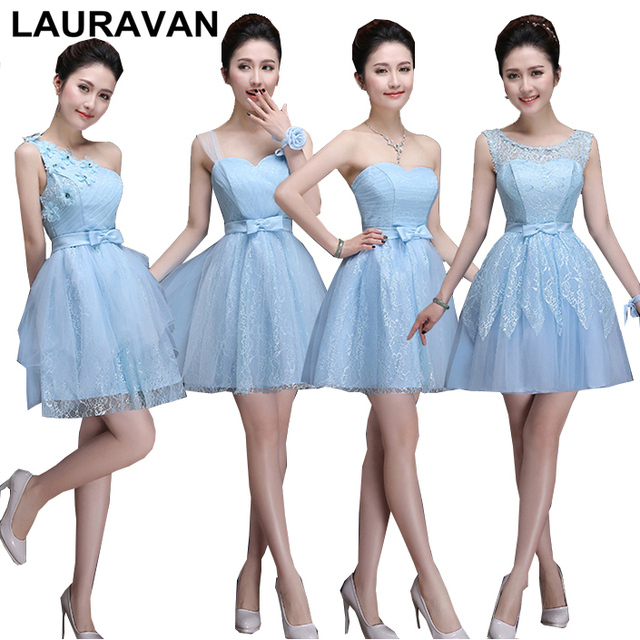 cb4bfcaf4c vintage light blue lace bridesmaid strapless bridemaid dress girls elegant  special occasion party dresses free shipping