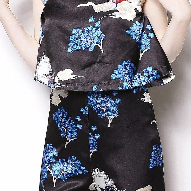 2019 Spring Summer New Fashion Women Jumpsuit Temperament Sleeveless Women Jumpsuit Straight Casual Print Women Jumpsuit