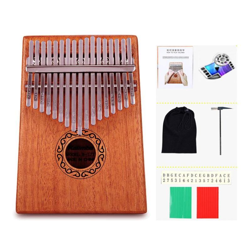 madeira 17 teclas dedo polegar bolso piano kalimba mbira polegar piano educacao brinquedo instrumento musical otimo