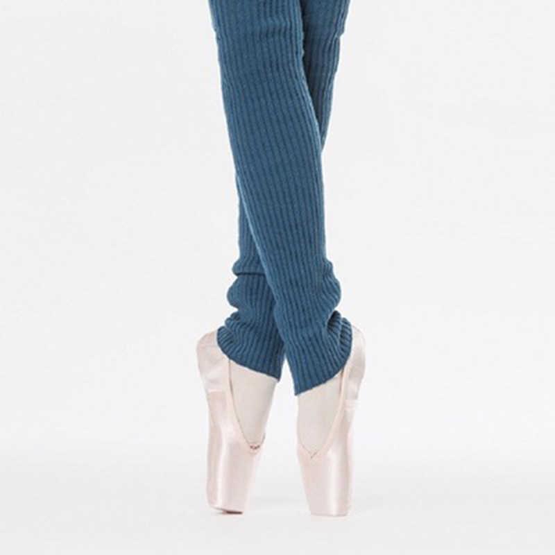 Calentadores de piernas de punto elásticos para mujer, medias tipo ballet que mantienen el calor para el invierno para danza, adultos, Danza Latina, Lagguard térmico con agujero