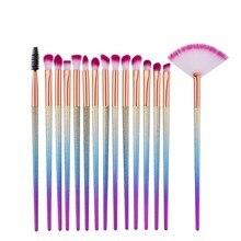 Women Portable Gradient Color Handle Makeup Brush Set Eyeshadow Eyebrow brush Powder Brushes Cosmetic Tool H7