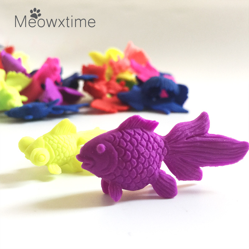 10pcs/lot Multi Colors Of Golden Fish Crystal Soil Gels Growing Up In Water Magic Grow Animal Toys
