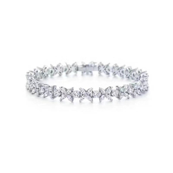T975 pulsera de tenis de piedra chapada en oro rosa de alta calidad 5A NSCD joyería de boda pulseras de moda para mujer