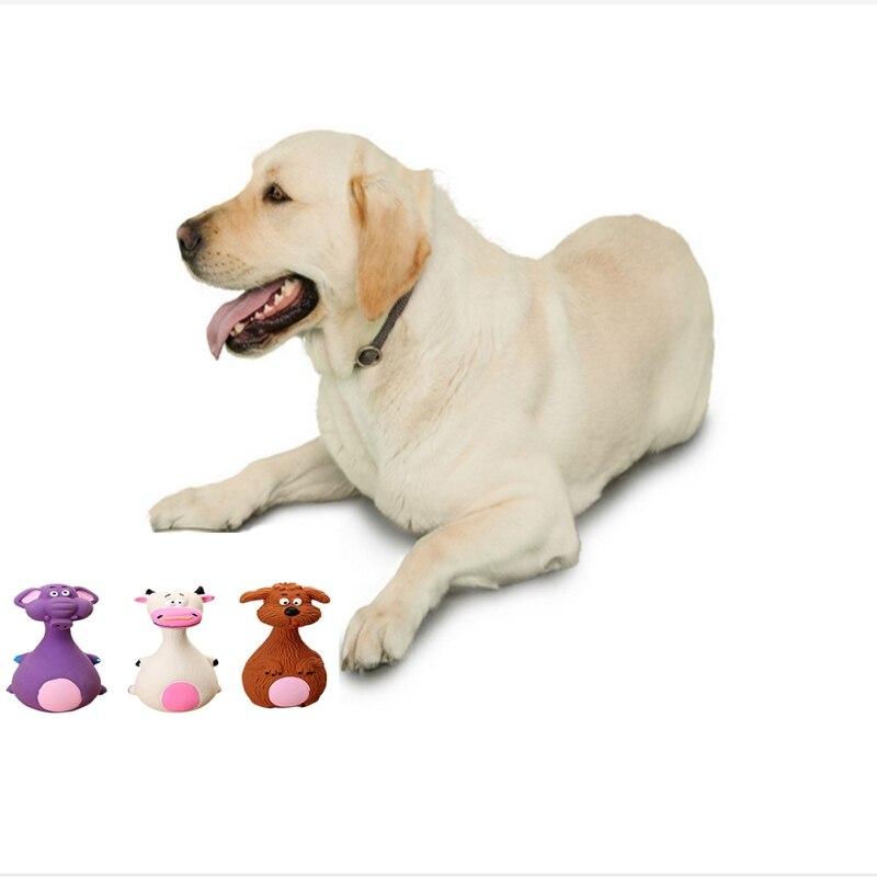 Petits jouets à mâcher pour animaux de compagnie moudre les dents jouets pour chiens forme animale chiot chien Latex mâcher grinçant son jouet jouets cadeau