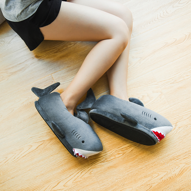 Millffy unisex Fuzzy Winter Slippers Animated Shark Plush Slippers Ultra Soft and Fuzzy Comfy Home Slippers slip on shoes 3