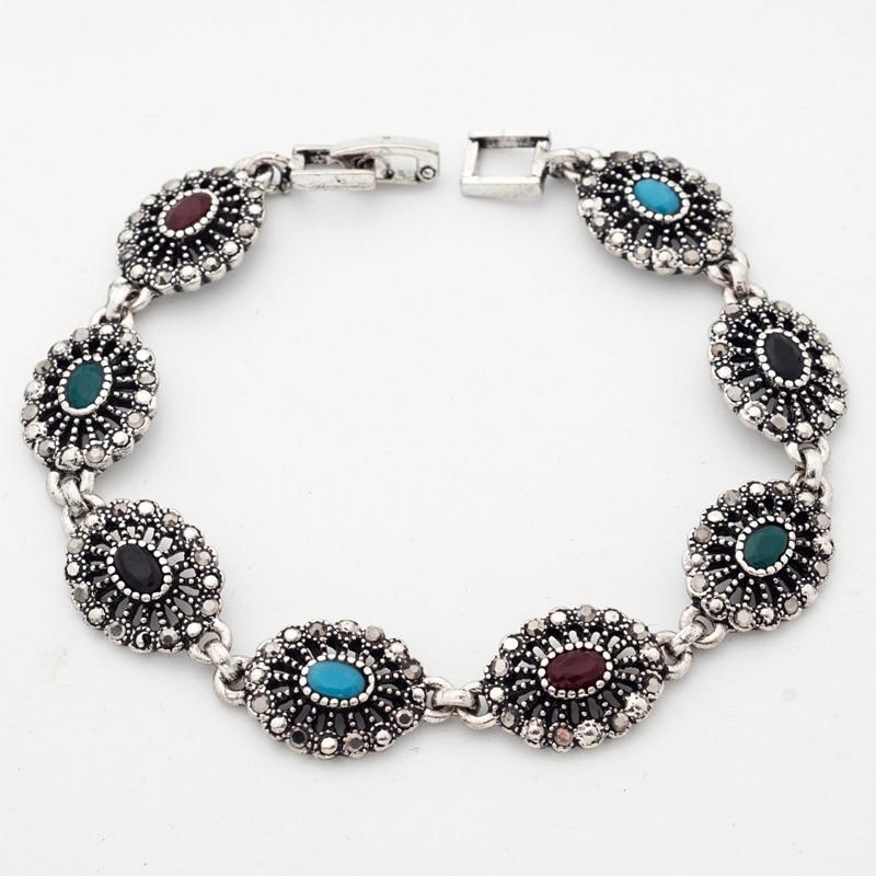 Yunkingdom Nepal Bracelets Colorful Antique Silver Color ...