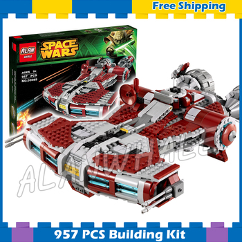 957pcs Space Wars Defender Class Cruiser Universe Starship 05085 Model Building Block Gifts Sets Games Compatible With Lago