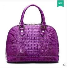 2018 hlt new Thai crocodile leather women handbag female real crocodile leather banquet luxury skewered shell