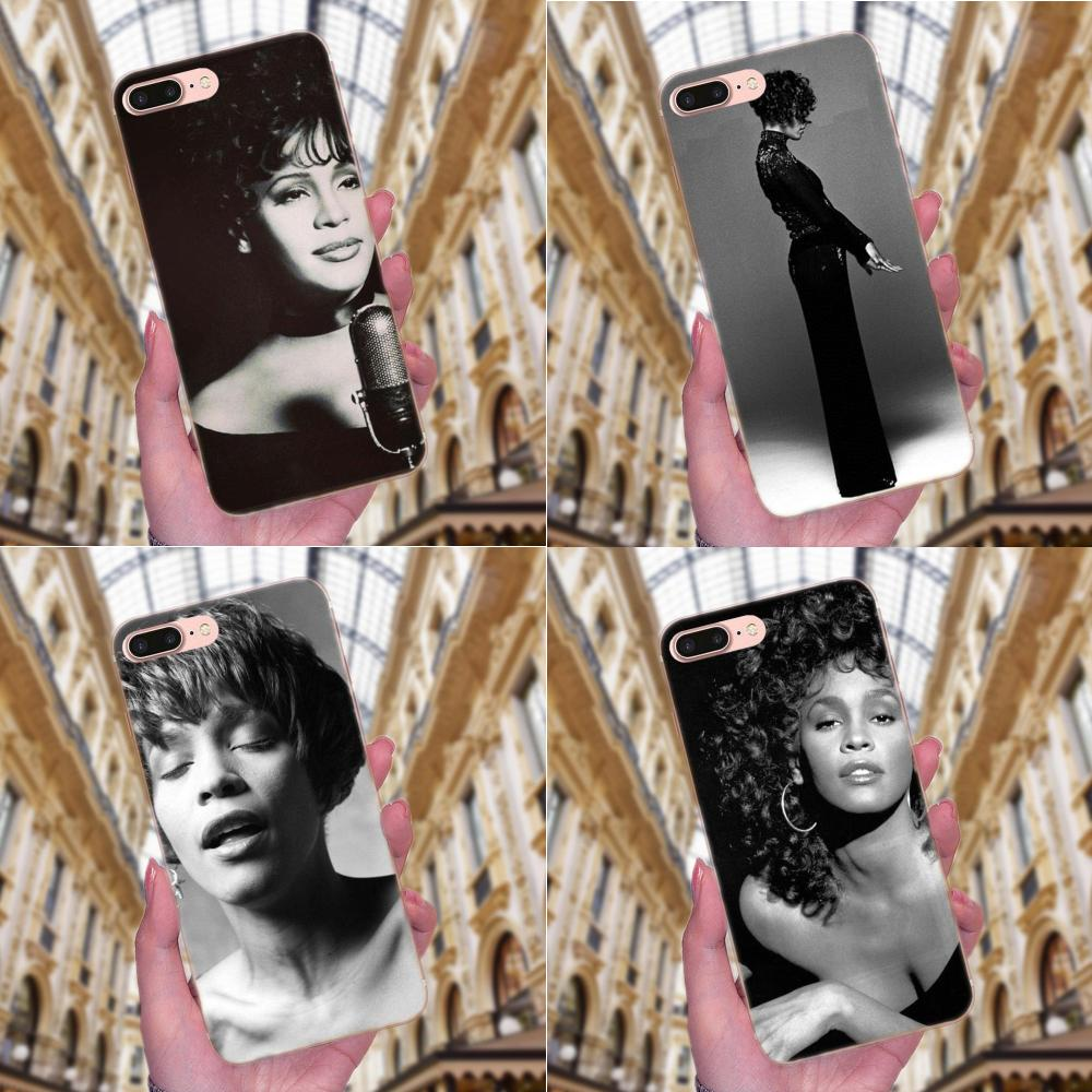 <font><b>Sexy</b></font> Singer Whitney Houston For Huawei <font><b>Honor</b></font> 4C 5A 5C 5X 6 6C 6A <font><b>6X</b></font> 7 7X 8 9 V8 V10 Y3II Y5II Y6II G8 P7 Play Lite <font><b>Phone</b></font> <font><b>Cases</b></font> image