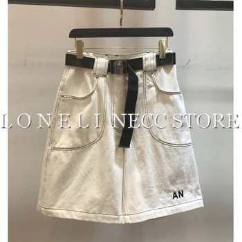 a1f4a943b9124 Product Offer. Летние джинсы с поясом, высокая талия, джинсовые шорты ...