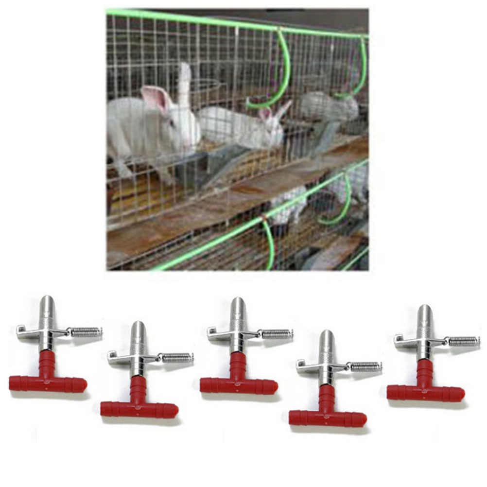 10Pcs Hot Sale Rabbit Nipple Water Drinker Waterer Poultry Feeder Bunny Rodent Mouse Feeder Tools Wholesale
