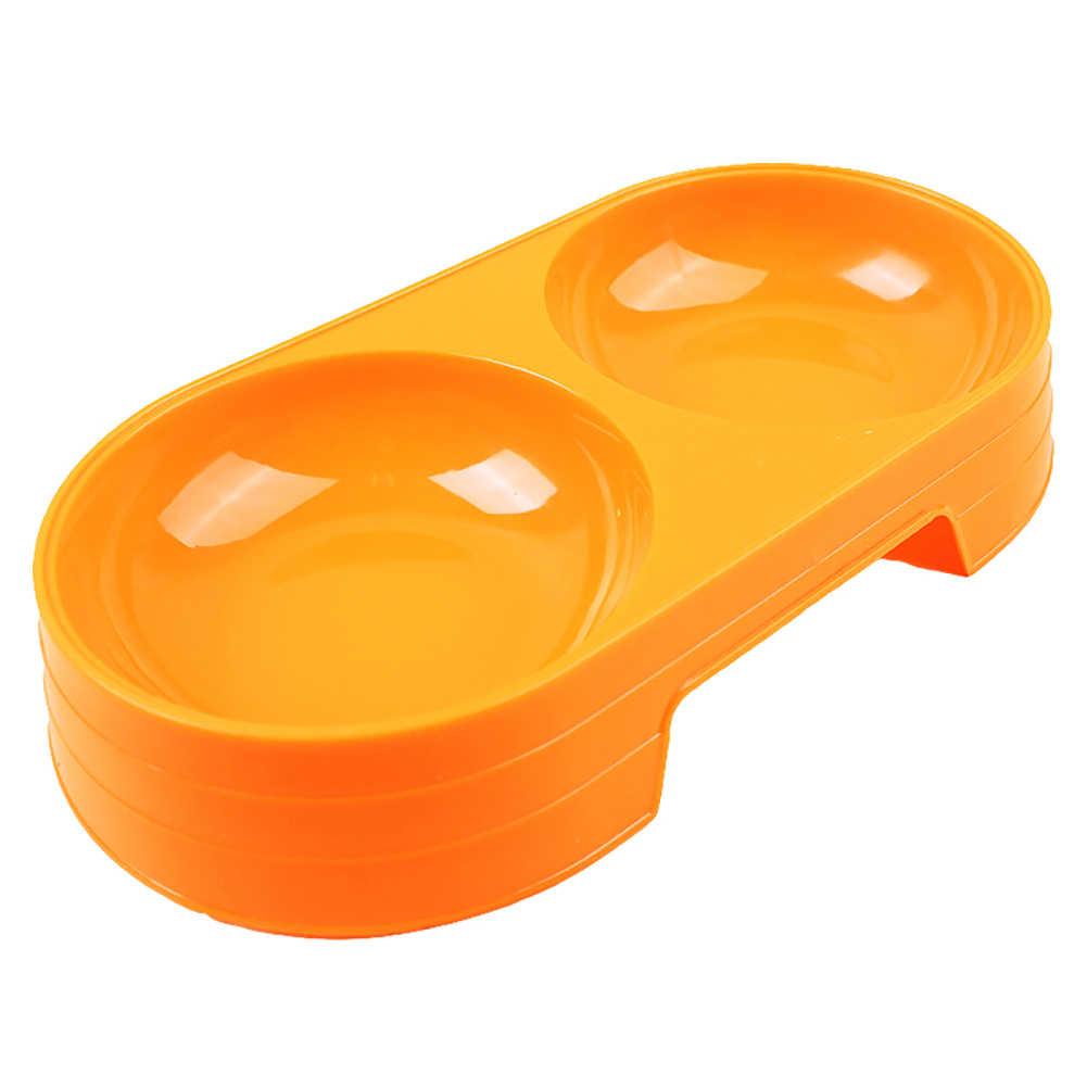 Pet yavru köpek kedi maması su kasesi bulaşık besleyici plastik kaymaz çift köpek kase köpek açık tabak Pet besleme aracı