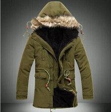 Новый 2016 thicnen тепловая wadded хлопок зимняя куртка мужчины с меховым капюшоном теплая мужская Одежда плюс бархат chaqueta hombre/MDY1