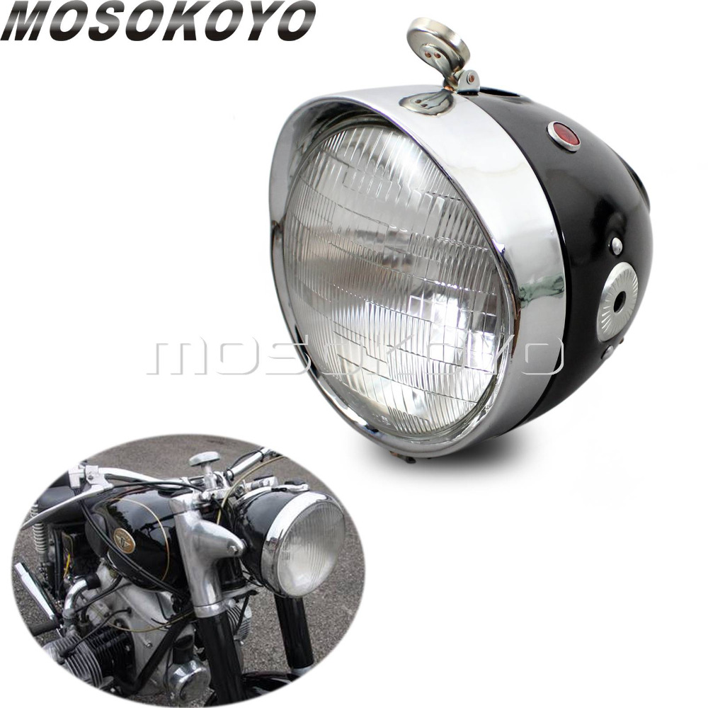 Custom Cafe Racer Motorcycle Headlight Front Lamp For Zundapp BMW K750 KS750 M72 R12 R75 R51 R6 BW40 Dnepr Ural Sidecar