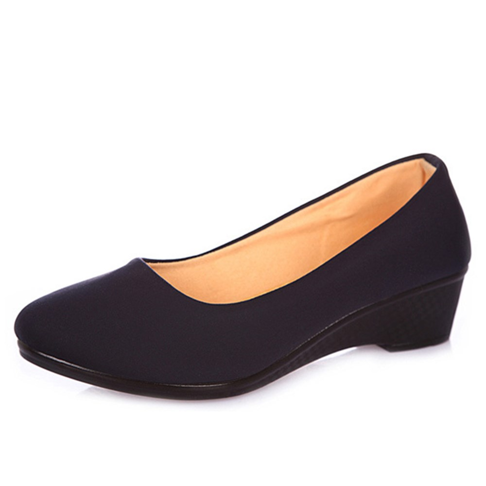 Women Ballet Shoes Women Wedges Shoes for Work Cloth Sweet Loafers Slip On Women's Pregnant Wedges Shoes Boat Shoes sweet loafers women heels shoes for spring breathable heels shoes autumn shoes women ballet shoes orientpostmark