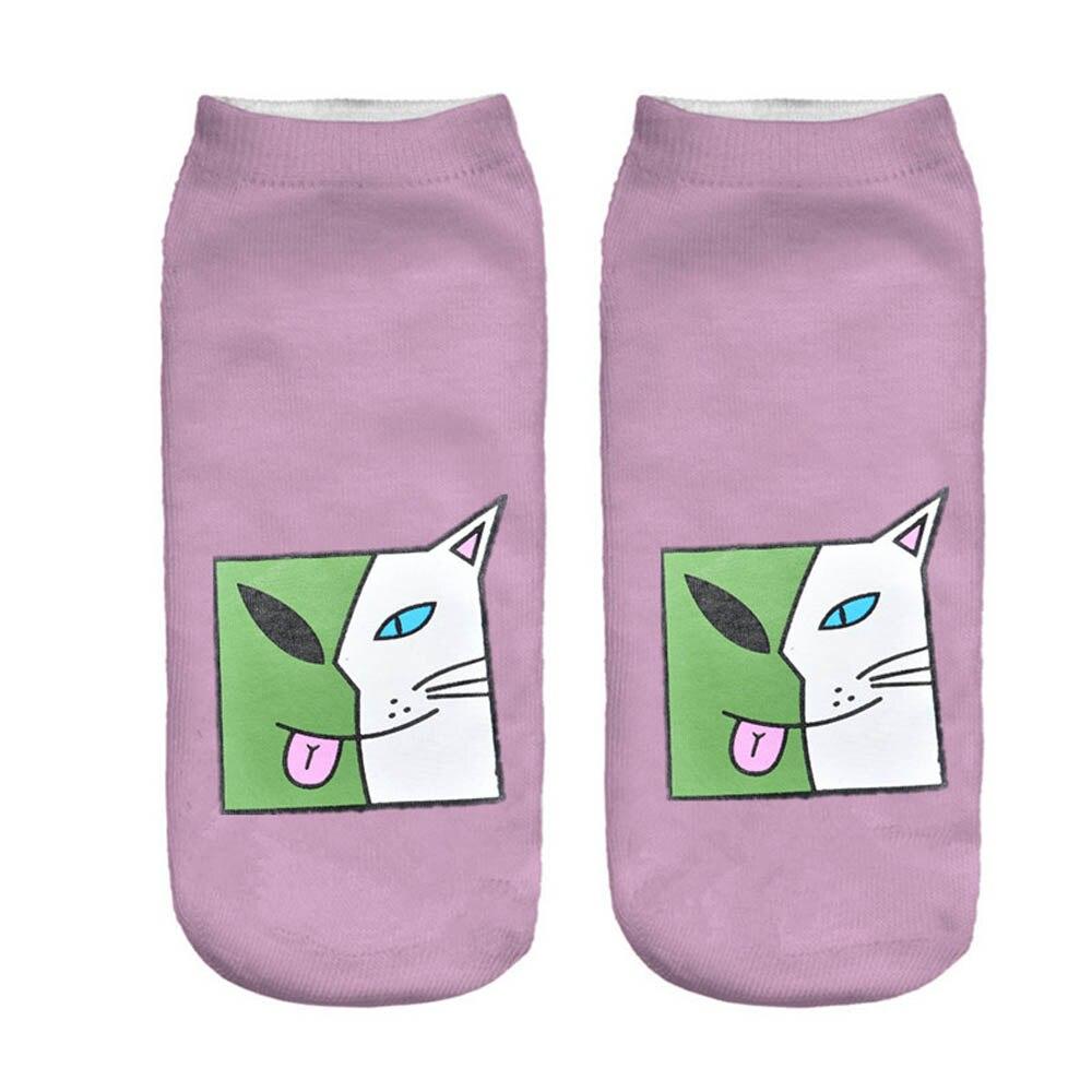 Women's Girl's Cat Design Hipster Low Cut Ankle Socks