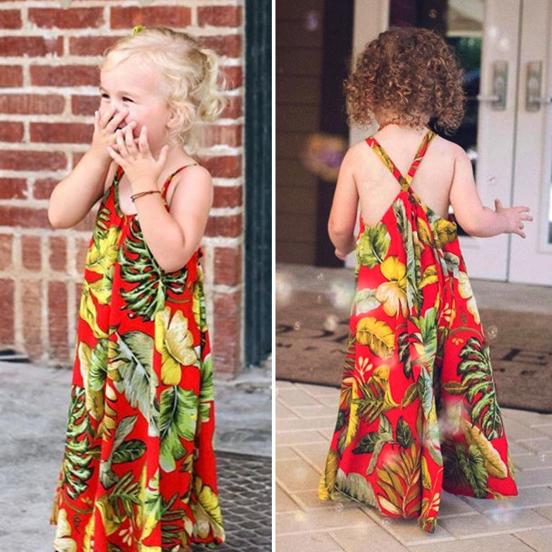 654c8e42ff3 Detail Feedback Questions about Toddler Kids Baby Girls Princess Floral Boho  Long Maxi Dress Sundress Summer Beach Casual Dresses 1 5Y on Aliexpress.com  ...