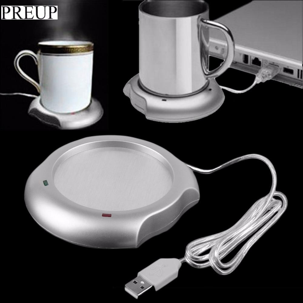 PREUP 2018 nuovo arrivo vendita stock USB Isolamento Coaster Riscaldatore Isolamento termico multifunzione elettrico Tazza di caffè Mug Mat Pad