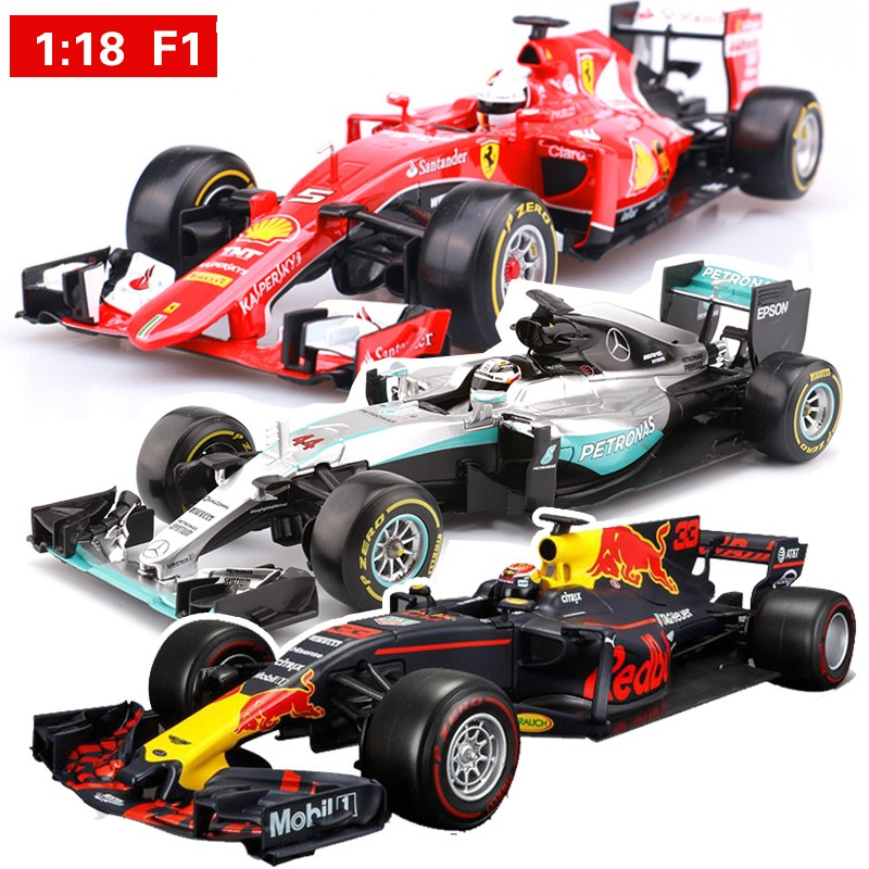 1:18 Модель литья под давлением из сплава, Игрушечная машина для Ferrari F1, металлическая модель автомобиля, игрушечный веер, ограниченная серия, автомобиль с оригинальной коробкой