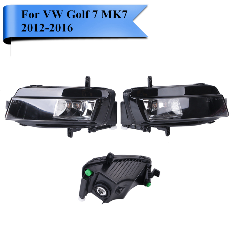 2x Car Front Side Fog Light Foglamp Cover Assembly For VW Golf 7 GOLF7 MK7 VII TDI GTI TGI TSI 2012 2013 2014 2015 2016 #P454 golfliath for golf 7 abs auto car front bumper grills badgeless gti mesh grille fit for volkswagen golf mk7 gti r 2013 2017