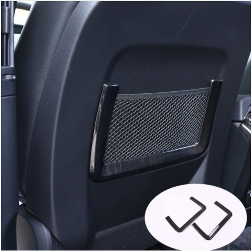 2 pièces de grain en bois Foncé de Stockage De Siège De Voiture Sac Net Garniture Pour Land Rover Discovery Sport 15-17 Pour Range Rover Sport 14-16 Style De Voiture