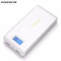 Original PINENG PN 929 15000mAh Mobile Power Bank Dual USB LCD Flashlight External Power Bank Phones