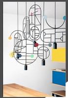 Nordic Art Lines & Dots Light Geometry DIY Restaurant Children's Room Light Fixtures Bar Cafe Light Free Shipping