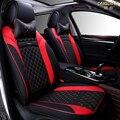 6D Styling Tampa de Assento Do Carro Para Audi A1 A3 A4 B7 B8 B6 B5 A6 C6 C7 A8 A8L Q3 Q5 Q7 Alta-fibra de Couro, Carro-Cobre