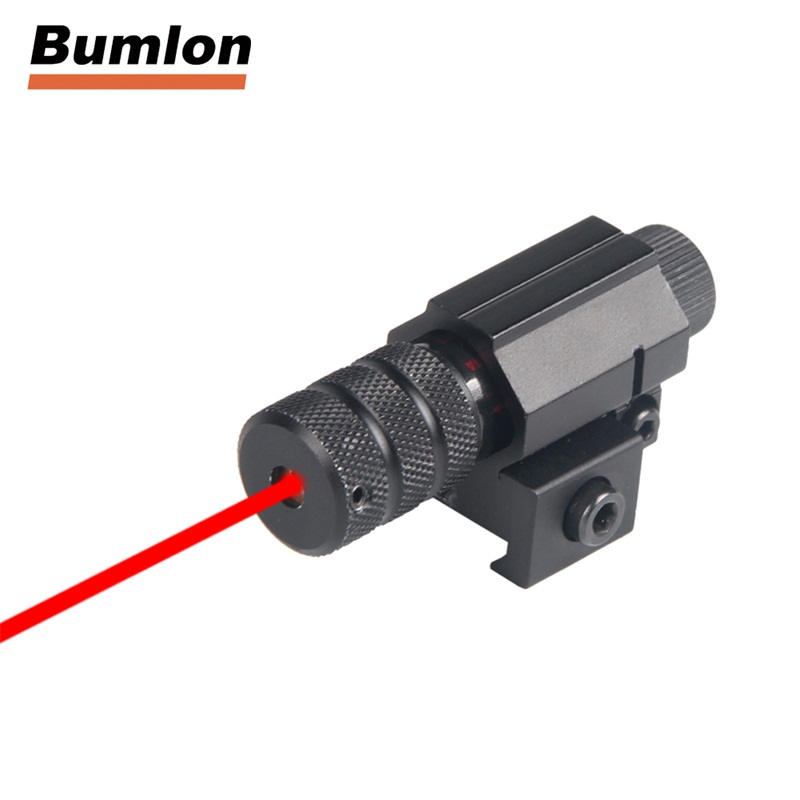 Tactical red dot Mini Red Laser Sight With Tail Switch Scope Pistol with Lengthen Rat Tail Hunting Optics RL3-0016