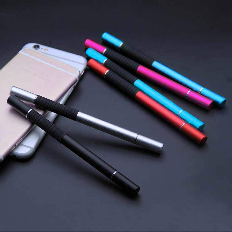 2 In 1 Stylus Ballpen Metal Capacitive Ballpoint Pen For Touches Screen IPhone IPad Tablet XJ66