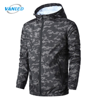 2017 New Spring Summer Mens Jacket Outerwear Windbreaker Thin Hooded Tracksuit Coats Camouflage Jacket Clothing Plus