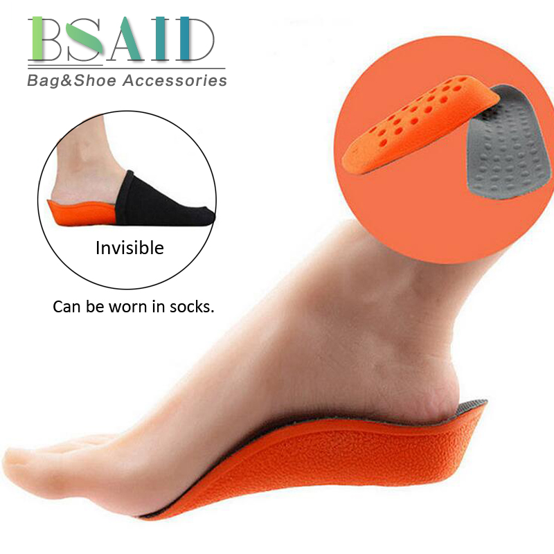 BSAID Increase Height Inserts Insoles Unisex Foot Pads Breathable 2.5cm Height Increase Insole For Shoes Woman Men Shoe Pad New bsaid height increasing fur insoles diy cut winter keep warm thick breathable soft wool shoe insole men women height increase