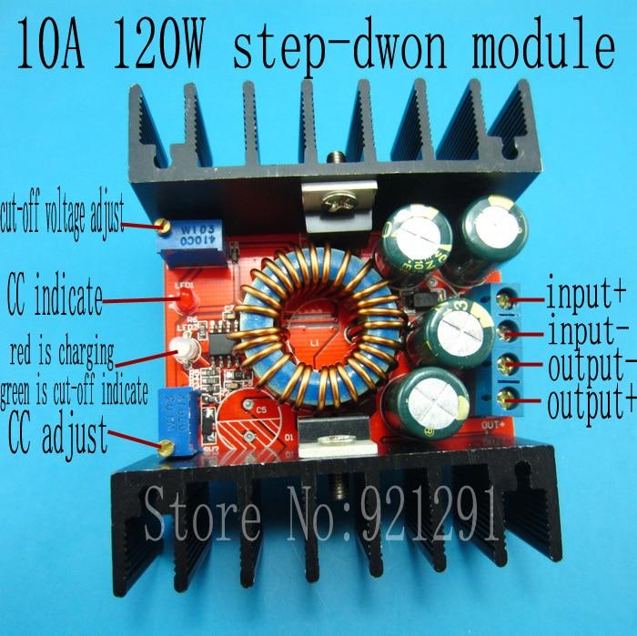цена на 2pcs/lot! DC-DC Buck Converter 10A 24V/12V LED Driver CC CV Charging 8-30V to 1.25-28V adjustable step-down Power Supply Module